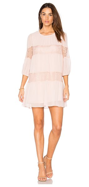 BCBGeneration Peasant Lace Dress in rose smoke - Self & Lining: 100% polyContrast: 100% nylon. Fully...
