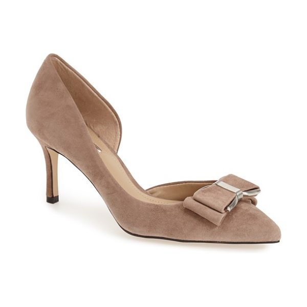 BCBGeneration perryn dorsay pump in taupe - A hardware-embellished bow gleams at the pointed toe of...