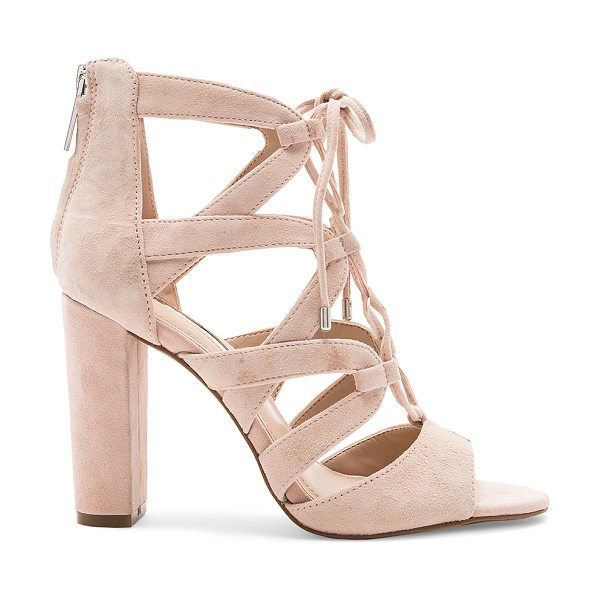 "BCBGeneration Rameena Heel in blush - ""Suede upper with man made sole. Back zip closure...."
