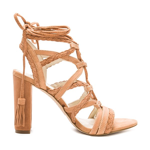 BCBGeneration Ronny heel in beige - Suede and leather upper with man made sole. Lace-up...