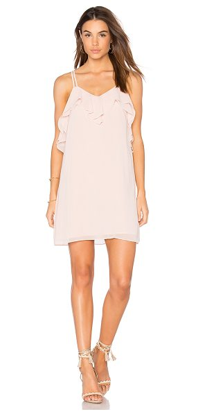 BCBGeneration Ruffled Mini Dress in blush - Self & Lining: 100% poly. Fully lined. Ruffle trim. Back...