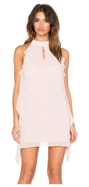 BCBGeneration Ruffled Mini Dress in blush - Self & Lining: 100% poly. Fully lined. Back keyhole with...