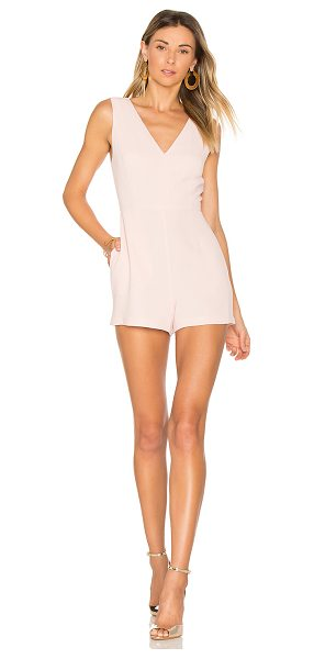 "BCBGeneration Simple V Romper in pink - ""Self & Lining: 100% poly. Side seam pockets. Hidden..."