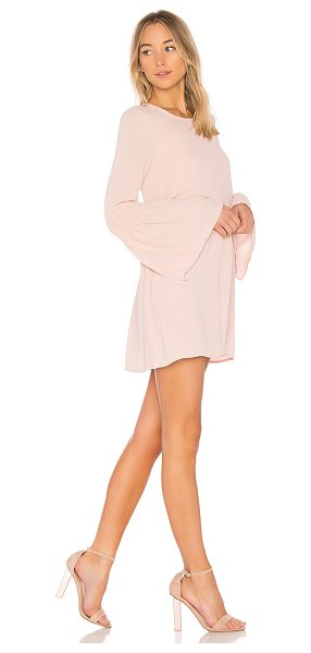 BCBGeneration Smocked Sleeve Shift Dress In Rose Smoke in blush - Self & Lining: 100% poly. Fully lined. Smocked sleeve...
