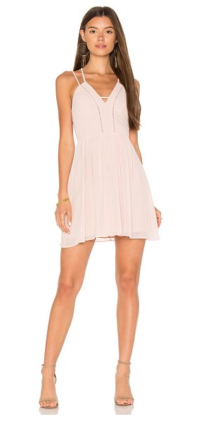 BCBGeneration Strappy V Dress in rose - Self & Lining: 100% poly. Fully lined. Double adjustable...