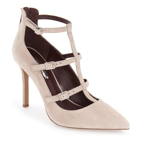 BCBGENERATION 'tamerra' cage pump - Buckle-embellished cage straps turn up the edgy attitude...