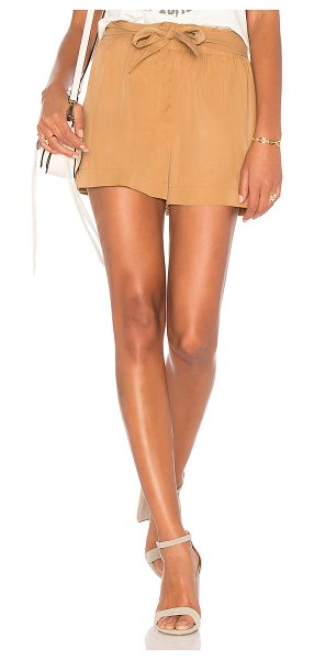 "BCBGeneration Tie Waist Short in tan - ""100% lyocell. Elasticized waist with tie accent. Side..."