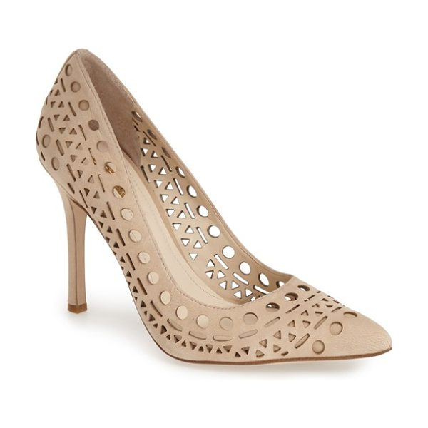 BCBGENERATION topaz cutout pump - An array of laser-cut perforations further the stunning...