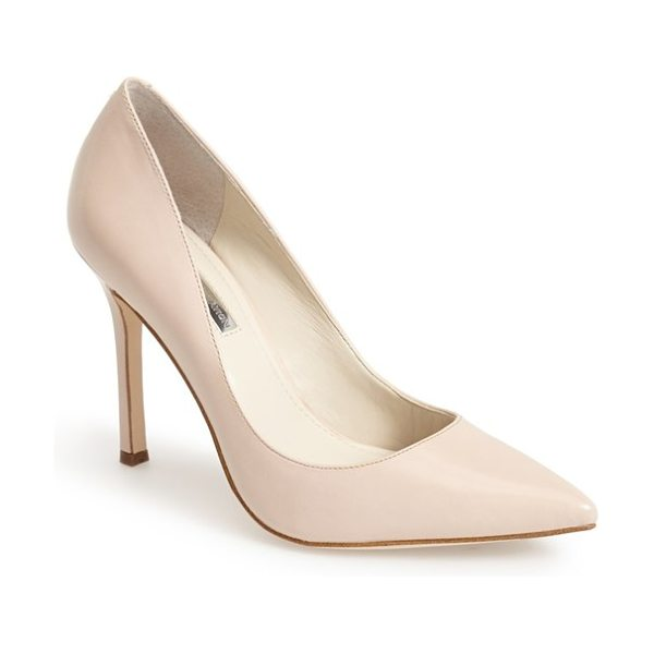 BCBGeneration treasure pointy toe pump in nude blush - A curvy, low topline and leg-lengthening pointy toe add...