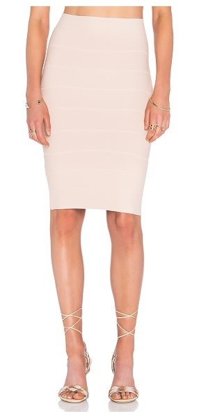 BCBGMAXAZRIA Alexa mini skirt in blush - 90% rayon 9% nylon 1% spandex. Unlined. Elastic stretch...
