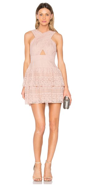 BCBGMAXAZRIA Alissa Dress in blush - Self: 100% polyContrast: 100% nylonLining: 91% poly 9%...