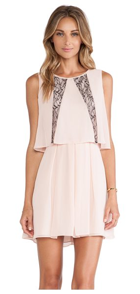 BCBGMAXAZRIA Ruffle dress in blush - Self & Lining: 100% poly. Fully lined. Draped bodice...