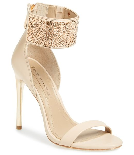 BCBGMAXAZRIA 'everling 2' ankle cuff sandal - A mirrored-heel sandal is sure to make a statement with...