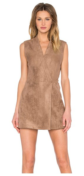 BCBGMAXAZRIA Caryn Faux Suede Dress in brown - Self: 94% poly 6% spandexLining: 68% cotton 28% nylon 4%...