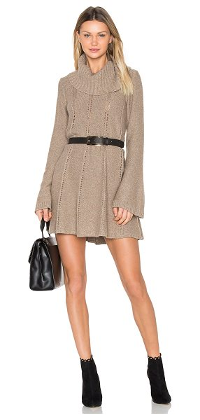 BCBGMAXAZRIA Catlin Dress in brown - 45% wool 30% viscose 10% cashmere. Hand wash cold....