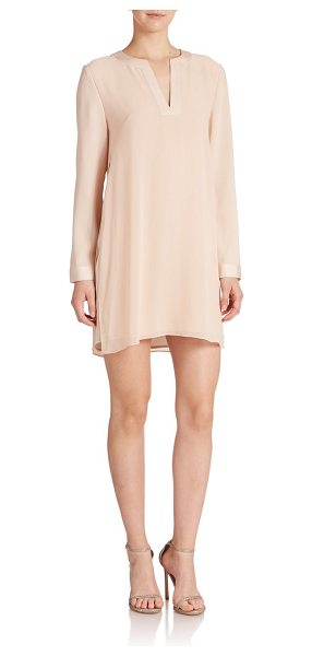 BCBGMAXAZRIA dyanne city dress in bare pink - Tunic-inspired design and satin trim highlight this...