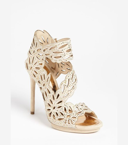 BCBGMAXAZRIA faricia sandal in powder irridescent - Crystallized cutouts shape a party-perfect sandal set...
