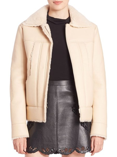BCBGMAXAZRIA Faux-shearling jacket - Faux-leather jacket lined with faux shearlingSpread...