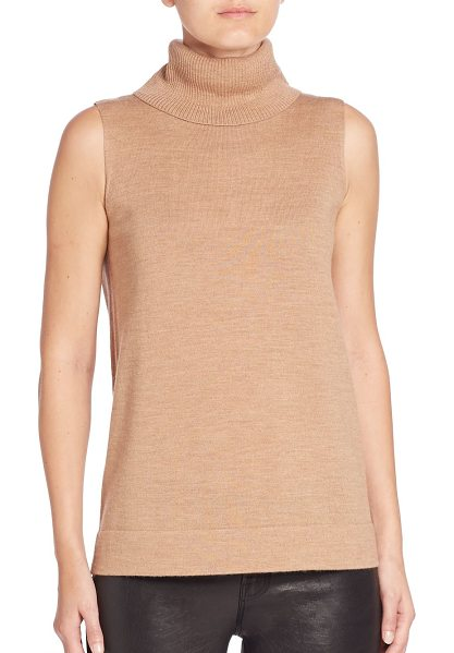 BCBGMAXAZRIA kalis knit turtleneck sweater in camel - Plush merino wool sweater offers warmth and comfort....