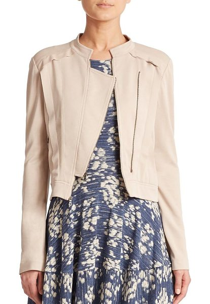 BCBGMAXAZRIA Kevin jacket in vintagelight - As sleek as it is chic, this soft jersey knit jacket is...