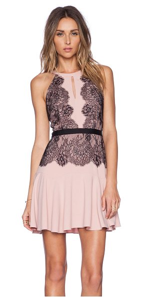 BCBGMAXAZRIA Leyla dress - Self: 63% poly 32% rayon 5% spandexContrast: 100%...
