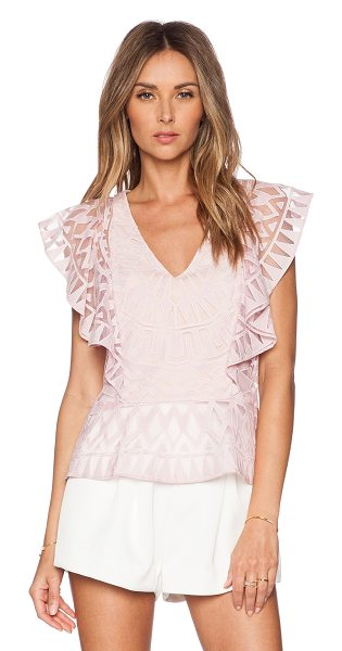 BCBGMAXAZRIA Mandee top in pink - Self: 57% cotton 43% polyCombo: 100% polyLining: 91%...