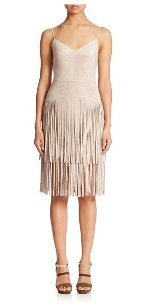 BCBGMAXAZRIA Microsuede fringe dress - Bohemian chic meets modern-day sophistication with this...
