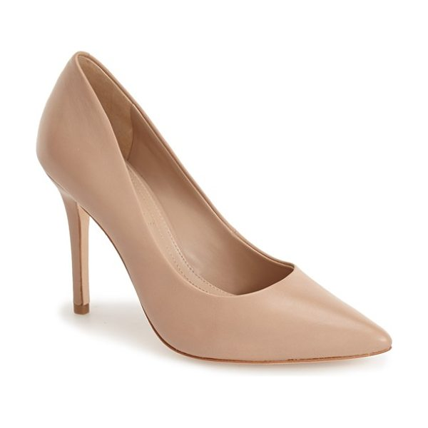 BCBGMAXAZRIA opia pump in max nude - A lacy upper plays up the ladylike poise of a...