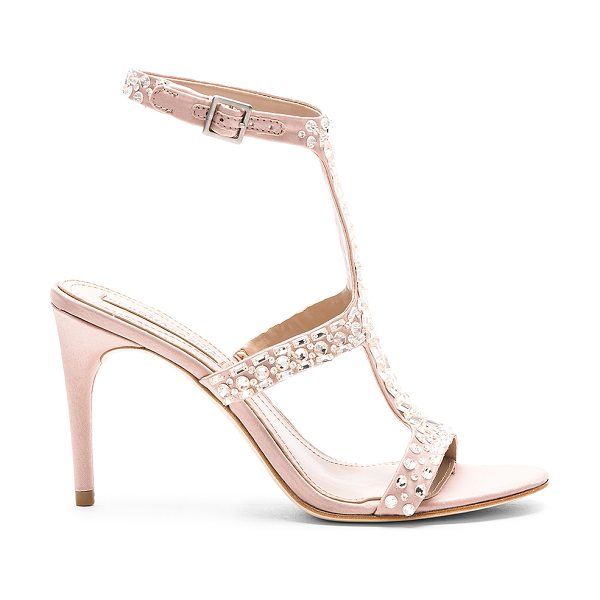 BCBGMAXAZRIA Ping Heel in blush - Satin covered leather upper with man made sole. Ankle...