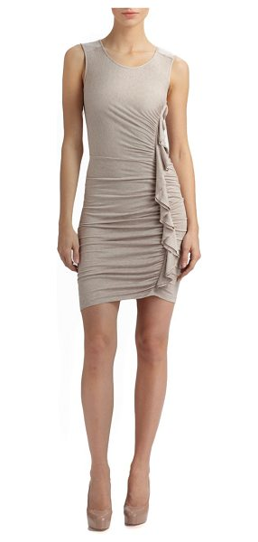 BCBGMAXAZRIA side ruched dress - Intricately ruched silhouette with a body-length ruffle...