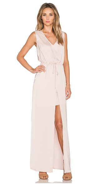 BCBGMAXAZRIA Taren maxi dress in blush - 100% poly. Partially lined. Drawstring waist. Front...