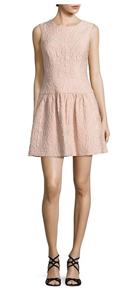 BCBGMAXAZRIA textured drop-waist dress in bare pink
