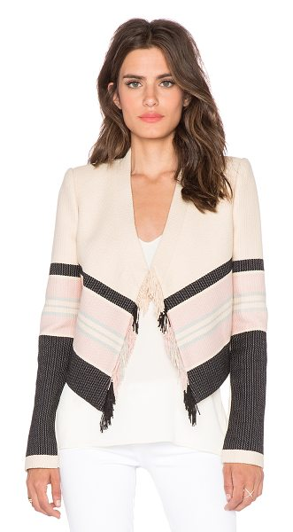 BCBGMAXAZRIA Walker jacket in beige - Self: 63% cotton 37% polyContrast 1: 100% cottonContrast...
