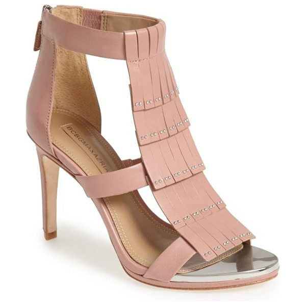 BCBGMAXAZRIA leigh high sandal in antique rose - Fringe is big news for the season, and this new sandal...