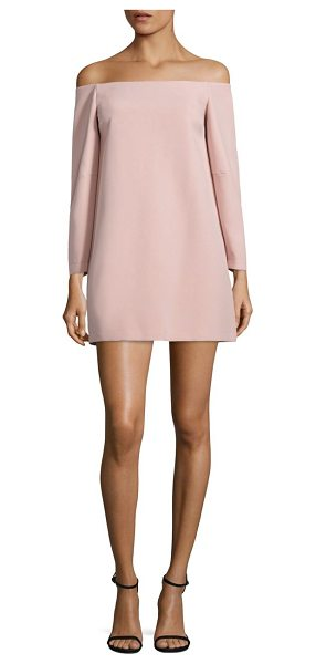 BCBGMAXAZRIA yesenia off-the-shoulder dress in tea rose - Designed with a must-have off-the-shoulder neckline,...