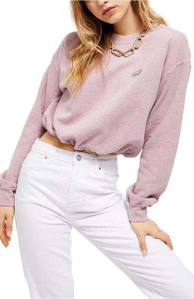 BDG Urban Outfitters bubble hem sweat top in pink