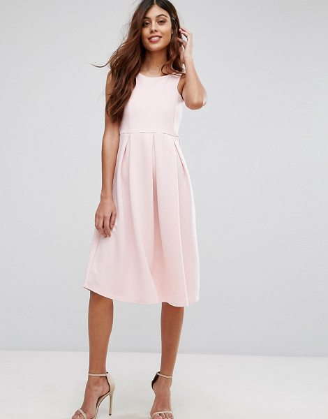 "Be Jealous Skater Prom Midi Dress in pink - """"Midi dress by Be Jealous, Stretch fabric, Scoop neck,..."