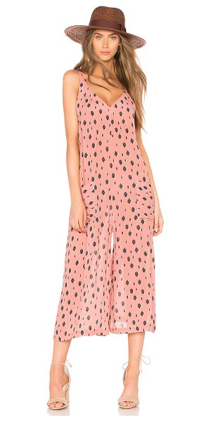 "BEACH RIOT Peyton Jumpsuit in pink - ""100% viscose. Hand wash cold. Front patch pockets. Body..."
