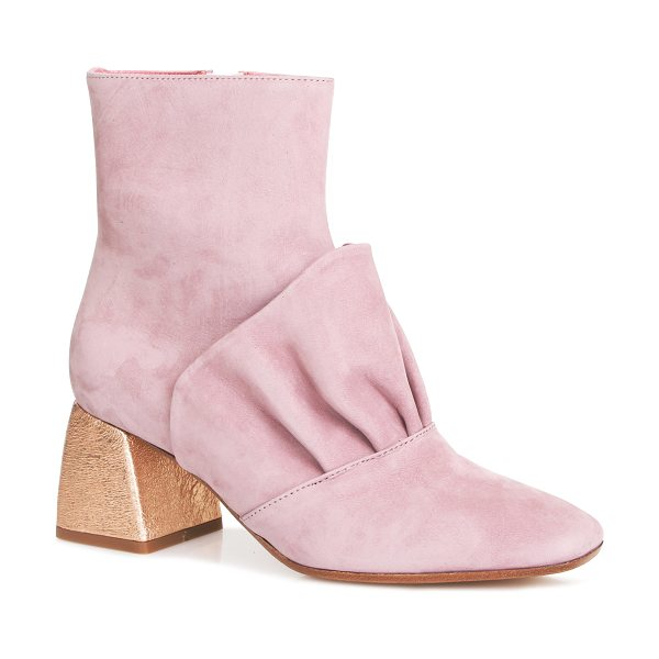Beau Coops x Romance Was Born Adalene Leather Bootie in pink - These *Beau Coops x Romance Was Born* high ankle booties...