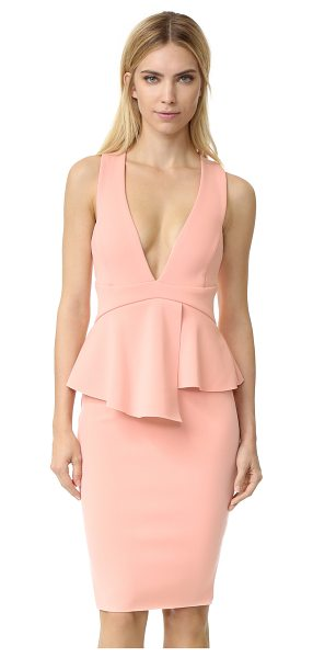 Bec & Bridge Banditti peplum dress in pink salt - A feminine peplum defines the waist of this formfitting...