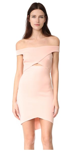 Bec & Bridge desert of paradise off shoulder mini dress in blush - Exclusive to Shopbop. An angular hem and crossover...