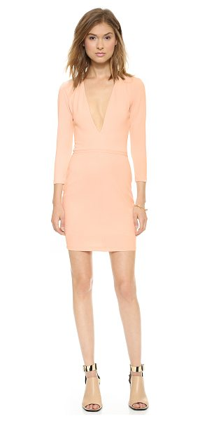 Bec & Bridge Imperial deep v dress in blush - Exclusive to Shopbop. A plunging V neckline gives a...