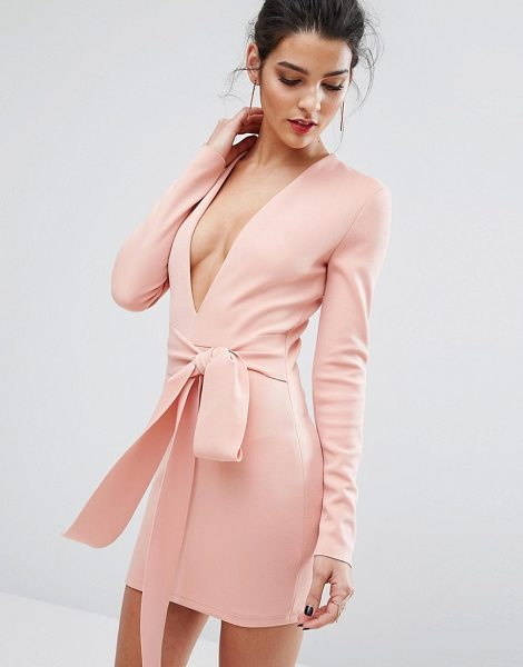 Bec & Bridge India Rosa Long Sleeve Tie Dress in pink - Dress by Bec Bridge, Midweight woven fabric, Thick...