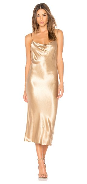 Bec & Bridge Shimmy Nights Cowl Dress in gold