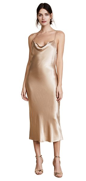 Bec & Bridge shimmy nights cowl midi drss in gold - This slinky, silky Bec & Bridge midi dress has a shallow...