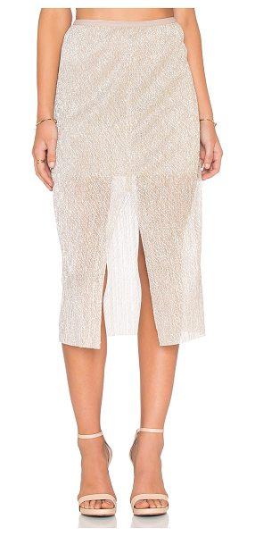 BEC & BRIDGE Gold dust midi skirt - Nylon blend. Partially lined. Banded waist. Skirt...