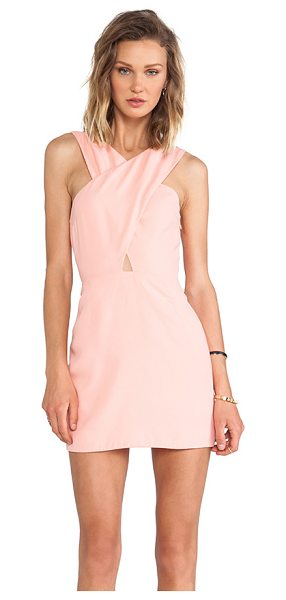Bec & Bridge Honour cut out dress in peach - Poly blend. Fully lined. Criss cross shoulder straps....
