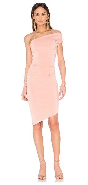 Bec & Bridge India Rosa Midi Dress in pink - 95% poly 5% elastane. Hand wash cold. Unlined. Pleated...