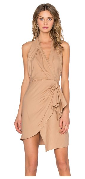 Bec & Bridge Jacques dress in tan - 100% lyocell. Dry clean only. Unlined. Surplice halter...