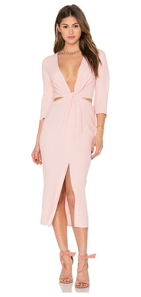 Bec & Bridge Slim Dusty Twist Dress in rose - 100% viscose. Dry clean only. Unlined. Cut-out detail....